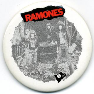 Sheena Is a Punk Rocker. Original US badge (Sire, c. July 1977). The RAMONES