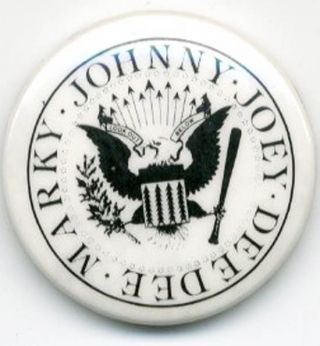 Original badge reproducing Arturo Vega's logo of a redesigned presidential seal, intended to...
