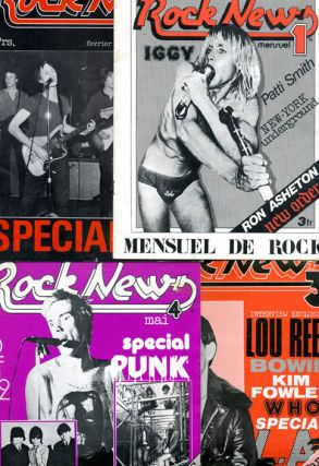 ROCK NEWS #1-4 (of 7 published). Paris: Sarl Fear Press Edition, November 1975 - May 1976
