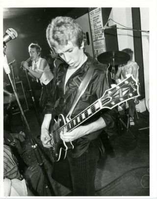 Original Ray Stevenson photograph of The Sex Pistols performing at the 100 Club, London, 31st...