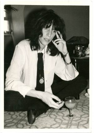Original b/w press photo of Patti Smith taken in London c. May 1976, a few months after the...