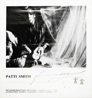 Original poster announcing a series of concerts by Patti Smith in Massachussetts during October...