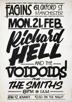 Original concert poster announcing The Smiths as support for Richard Hell and The Voidoids at...