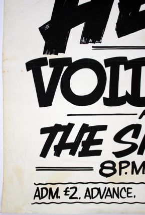 Original concert poster announcing The Smiths as support for Richard Hell and The Voidoids at Fagins (ie. Rafter's, below Fagins), Manchester, Monday 21st February (1983).
