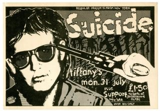 "An original flyer announcing Suicide at Tiffany's (Edinburgh), 31st July (1978), ""plus support""..."