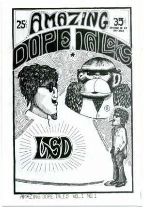 AMAZING DOPE TALES Volume 1, No. 1 (San Francisco: Greg Shaw, c. early 1967) + pre-publication flyer