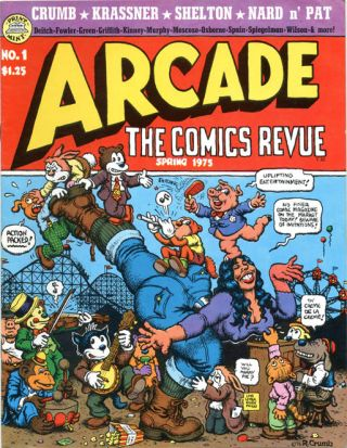 ARCADE - The Comics Revue #1-7 (Berkeley, CA: The Print Mint, Spring 1975-Fall 1976) - all published