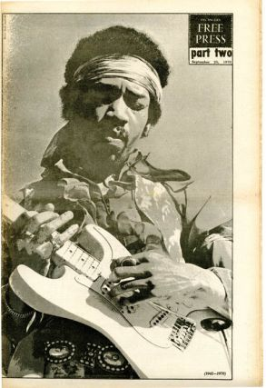 """""""Ron Cobb Is Back"""" front cover, LOS ANGELES FREE PRESS #323 (LA: 25th September, 1970)."""