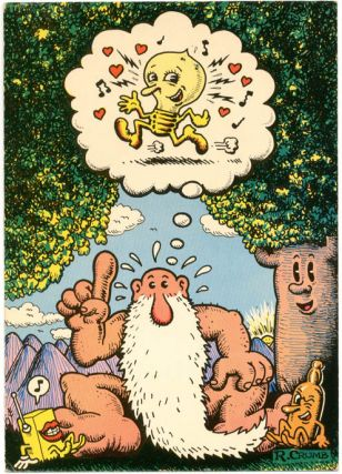 Greetings card featuring R. Crumb's Mr. Natural. R. CRUMB