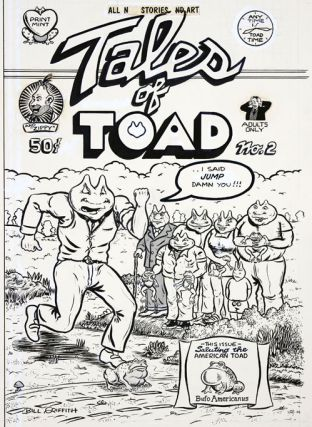 Original artwork for the front cover of Tales of Toad #2 (Berkeley, CA: The Print Mint, 1971)....