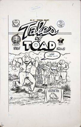 Original artwork for the front cover of Tales of Toad #2 (Berkeley, CA: The Print Mint, 1971).