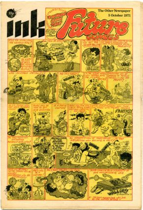 """Future Comics"" front page, INK - The Other Newspaper #18 (London: Ink Publishers Ltd., 5th..."
