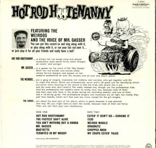 HOT ROD HOOTENANNY Featuring The Weirdos and the Voice of Mr. Gasser.