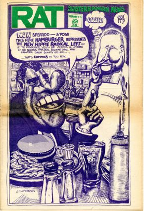 Front cover, RAT Subterranean News #28 (NY: R.A.T. Publication, Inc., 7th February, 1969). Joe...