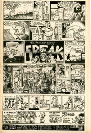 Two full-page Fabulous Furry Freak Brothers strips in LOS ANGELES FREE PRESS #362 and #363 (LA: 25th June and 2nd July, 1971).
