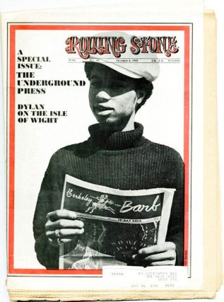 """The Underground Press: A Special Report"" in ROLLING STONE #43 (SF: 4th October, 1969). John BURKS"