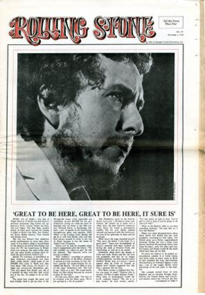 """The Underground Press: A Special Report"" in ROLLING STONE #43 (SF: 4th October, 1969)."