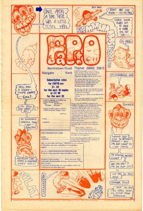 FAPTO #1/3/6-9 (Margate, Kent: Winter 1971-late 1972). Six issues of nine published.