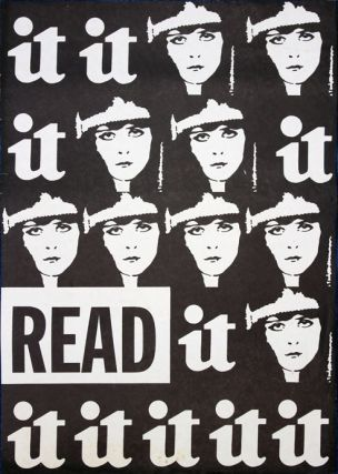 An original promotional poster, illustrated with the paper's Theda Bara logo in repeat and the...