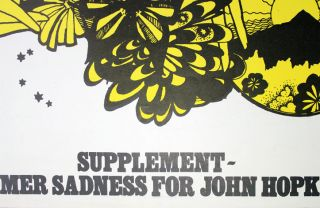 INTERNATIONAL TIMES #14.5. Special 'Supplement - Summer Sadness For John Hopkins' (London: 9th June, 1967).