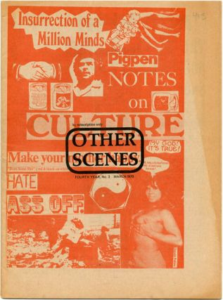 OTHER SCENES. An extensive collection of 29 issues of John Wilcock's international underground newspaper, edited from Los Angeles, New York, Tokyo and London, dating from 1967 through to 1974.
