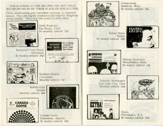 UNDERGROUND PRESS DISTRIBUTING AGENCY CATALOG.