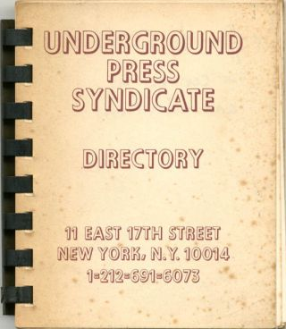 UNDERGROUND PRESS SYNDICATE - DIRECTORY