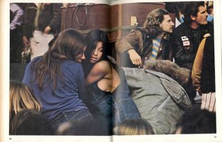 """""""Altamont: The Woodstock Nation's Pearl Harbor"""" (18pp.) by Sol Stern in SCANLAN'S Volume 1, #1 (NY: March 1970)."""