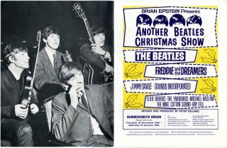 Original programme from the 'Brian Epstein presents another Beatles Christmas Show' concerts held at the Hammersmith Odeon, London, between 24th December, 1964-16th January, 1965.