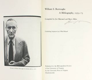 William S. Burroughs: A Bibliography, 1953-73.