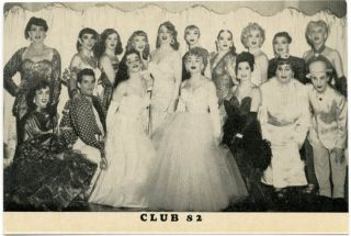 CLUB 82. Two vintage publicity postcards