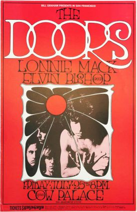 Original 'Bill Graham Presents' poster designed by Randy Tuten announcing The Doors at the Cow...