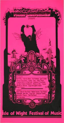 Original poster designed by David Fairbrother-Roe announcing the 1969 Isle of Wight Festival of...