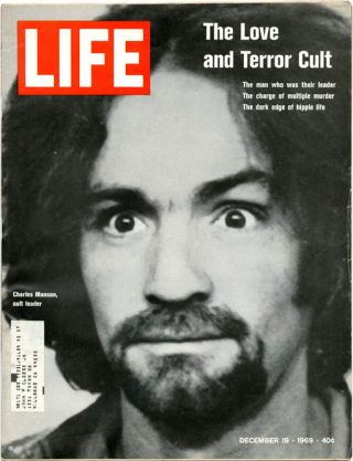 LIFE Magazine, Vol. 67, #25 (19th December, 1969). Charles MANSON