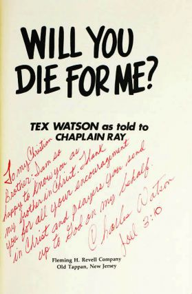 Will You Die For Me? The Man Who Killed For Charles Manson Tells His Own Story.