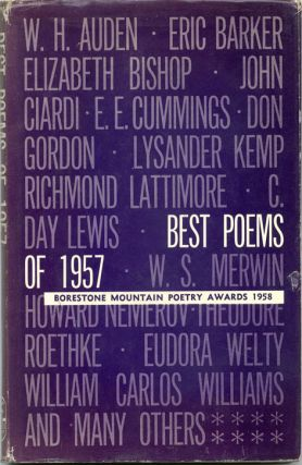 BEST POEMS OF 1957: Borestone Mountain Poetry Awards 1958