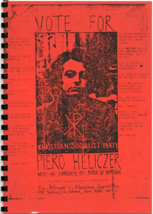 UNTITLED (front cover reproduces a 'Vote For Piero Heliczer' flyer