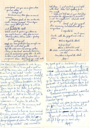 Sixteen autograph letters signed from Angus MacLise to Piero Heliczer, c. 1958-1960