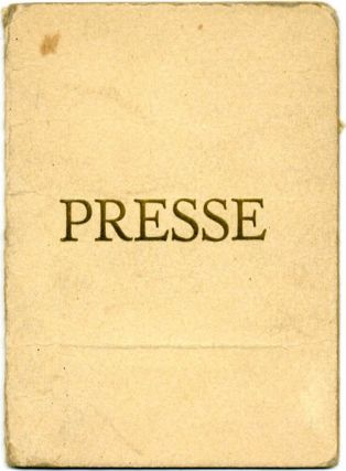 DEAD LANGUAGE PRESS CARD.