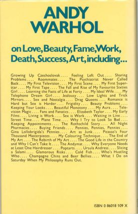 The Philosophy of Andy Warhol (From A to B and Back Again).