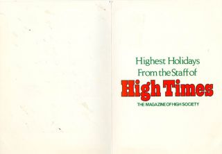 HIGH TIMES #24 (Farmingdale, NY: August 1977).