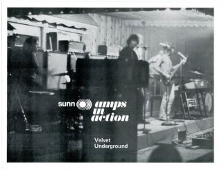 SUNN AMPS IN ACTION: VELVET UNDERGROUND