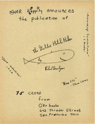 "A handbill issued by O'ar Books announcing the publication of their reprint of ""The Galilee..."