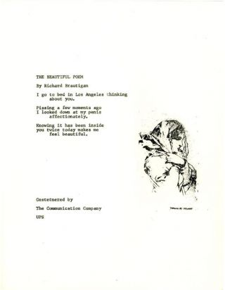 The Beautiful Poem. Richard BRAUTIGAN