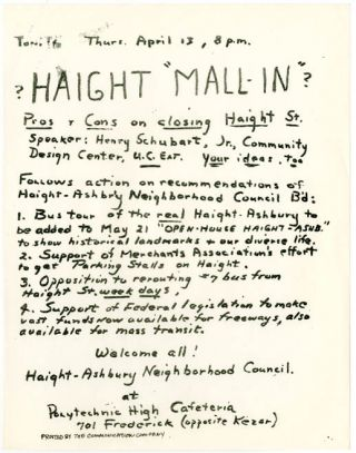 HAIGHT MALL-IN?
