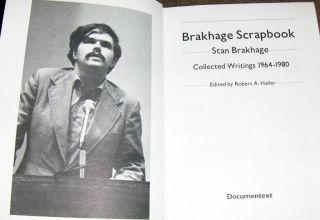 Brakhage Scrapbook: Collected Writings 1964-1980. Stan BRAKHAGE