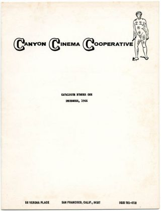 Catalogue Number One. CANYON CINEMA COOPERATIVE