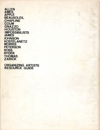 INTERMEDIA Vol. 1, #3 (LA: The Century City Educational Arts Project, 1975).