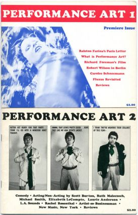 PERFORMANCE ART MAGAZINE #1-2 (NY: 1979