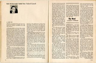 """""""The Word"""" (2pp.) in SWANK Vol. 8, #3 (NY: July 1961)."""